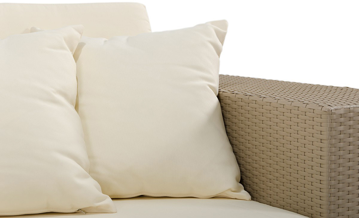 close up of pillows for the tahiti outdoor modern sectional