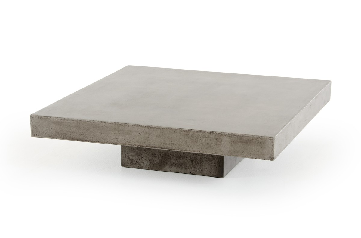 This coffee table concrete top, The Benciceni is available at AdvancedInteriorDesigns.com