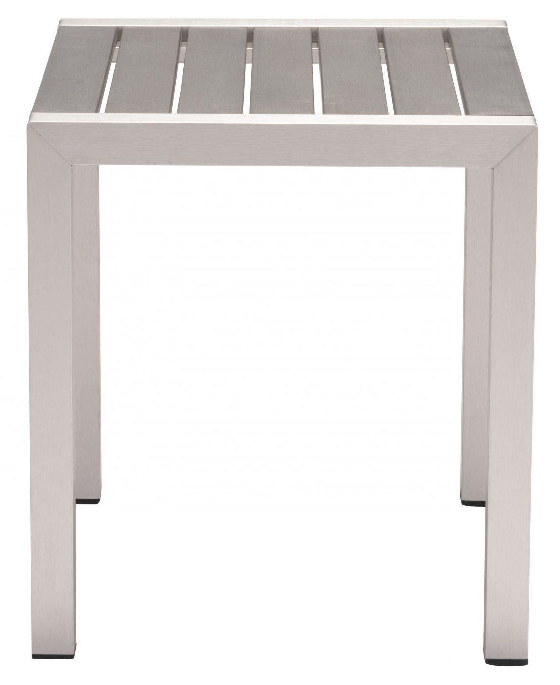zuo cosmopolitan side table b aluminum