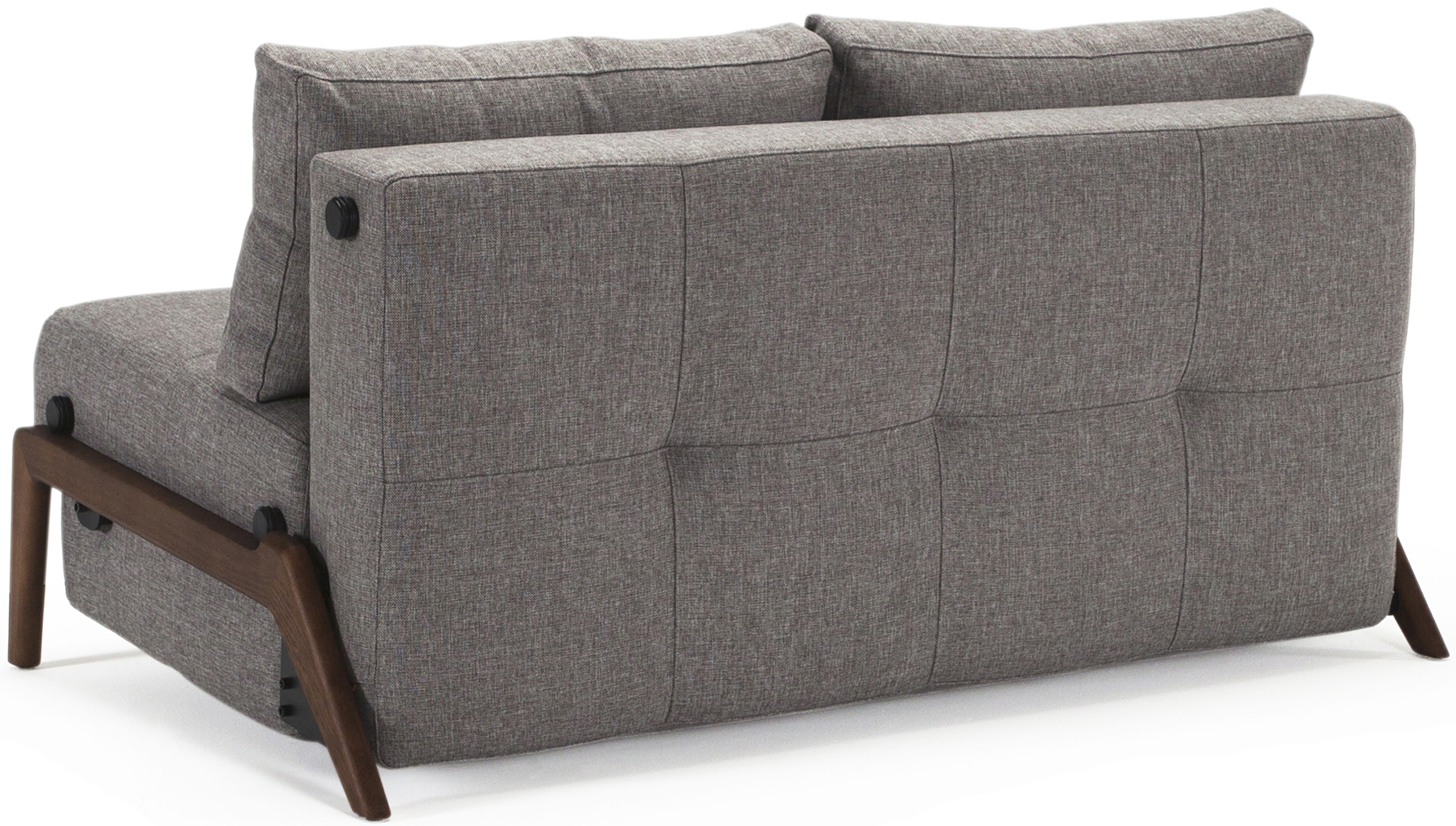 innovation living cubed dark wood sofa bed