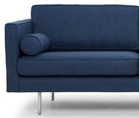 nuevo living cyrus three seater azure blue