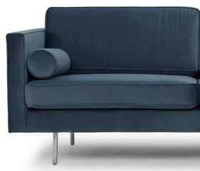 nuevo living cyrus three seater dusty blue