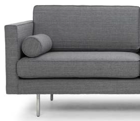 nuevo living cyrus three seater grey tweed