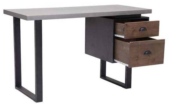 zuo modern den desk old fir and metal