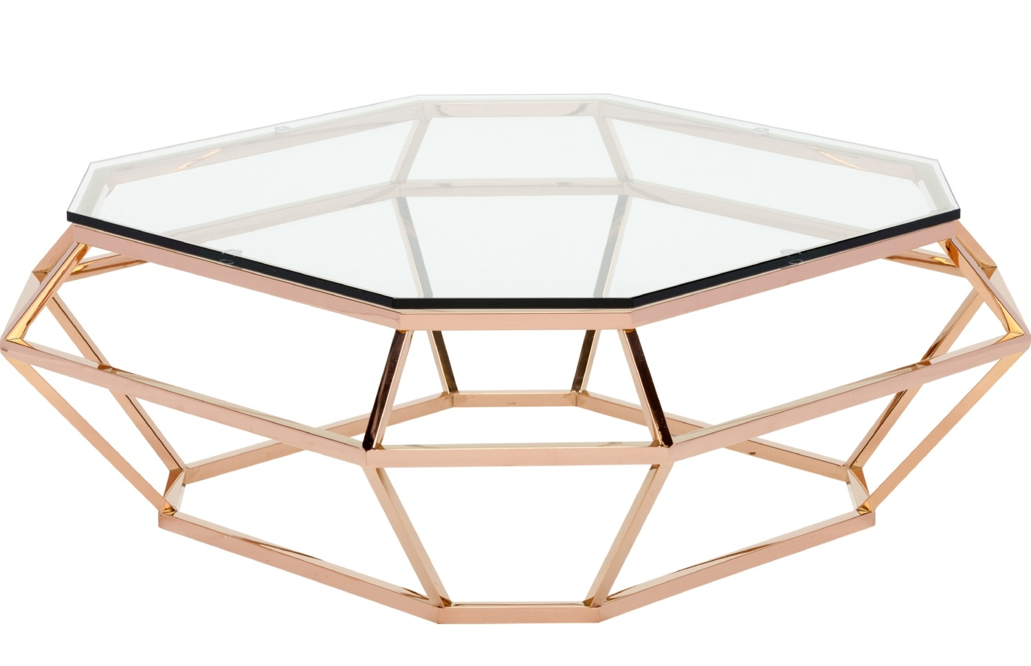 ... Diamond Square Coffee Table Rose Gold Finish ...