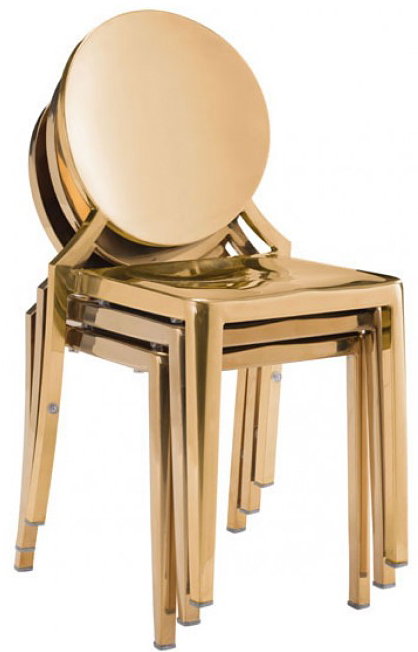 eclipe dining chair gold