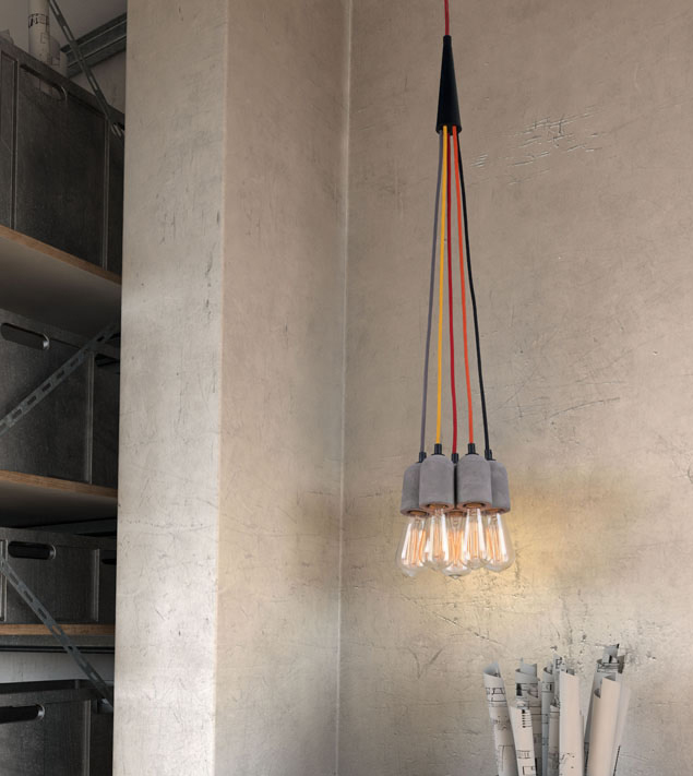 zuo modern faith ceiling lamp concrete grey