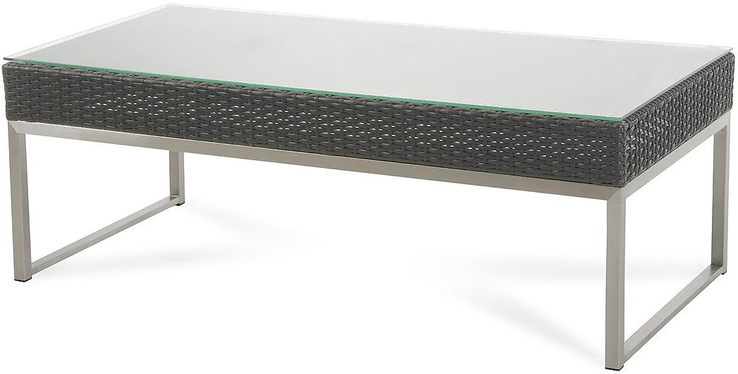 fakistra black rattan coffee table
