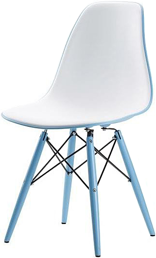 the felica dining chair in light blue