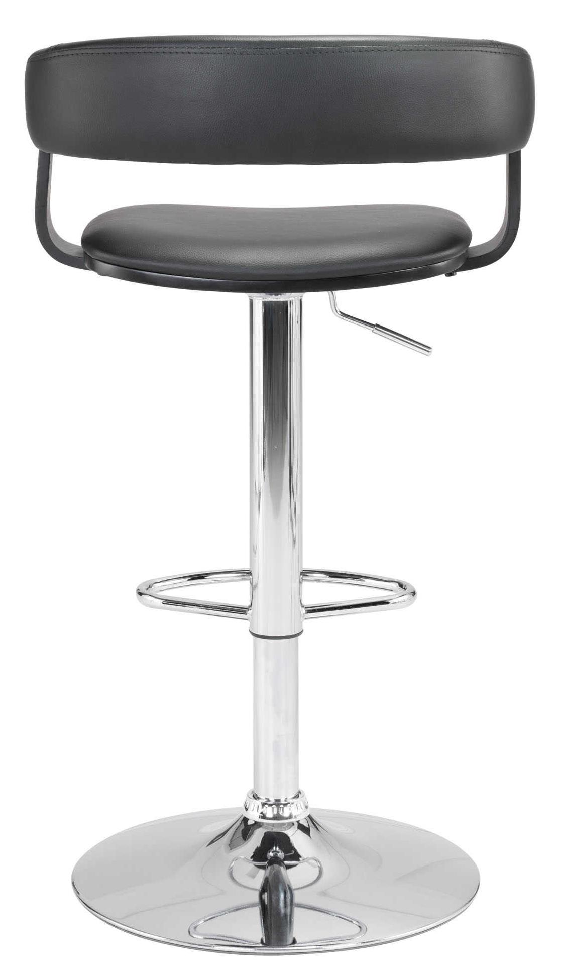 zuo modern fuel bar chair black