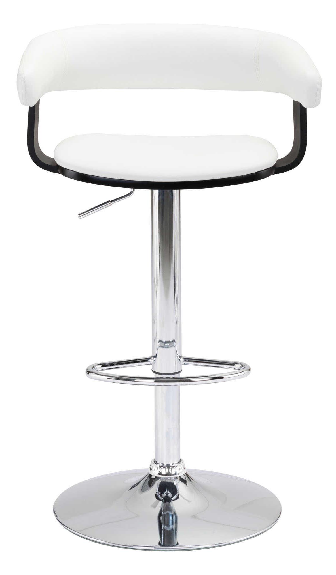 zuo modern fuel bar chair white