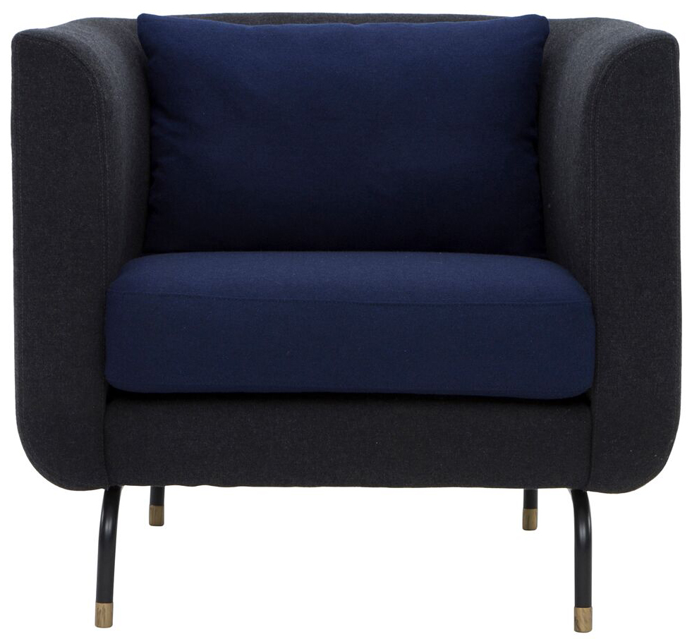 nuevo living gabriel single chair dark grey navy blue