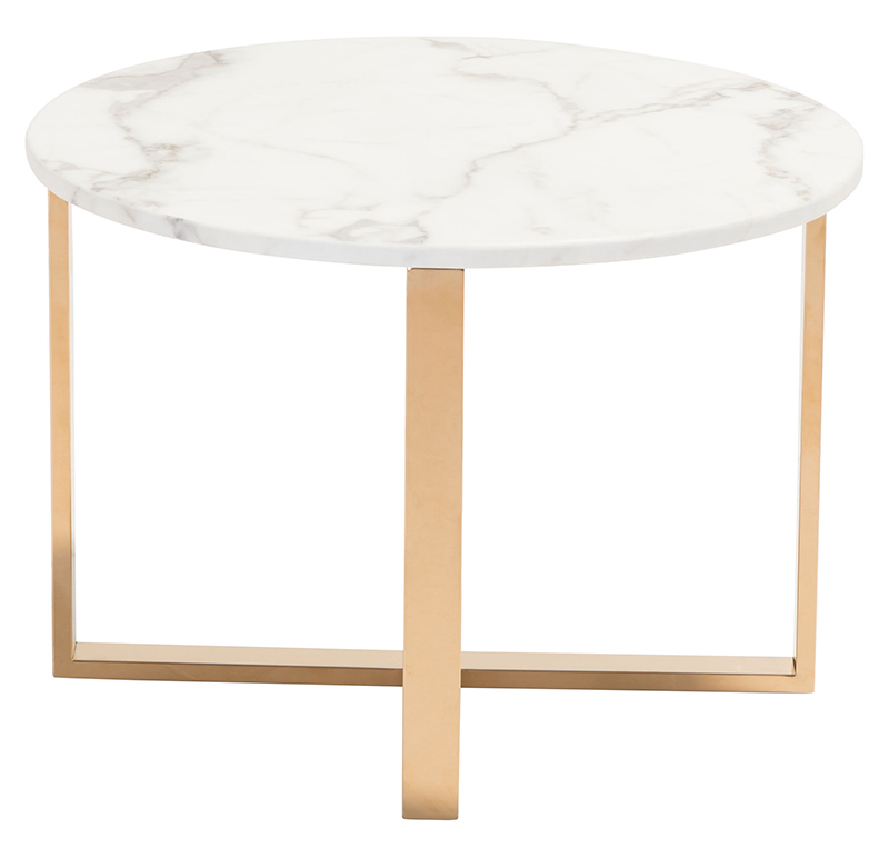 zuo globe end table stone