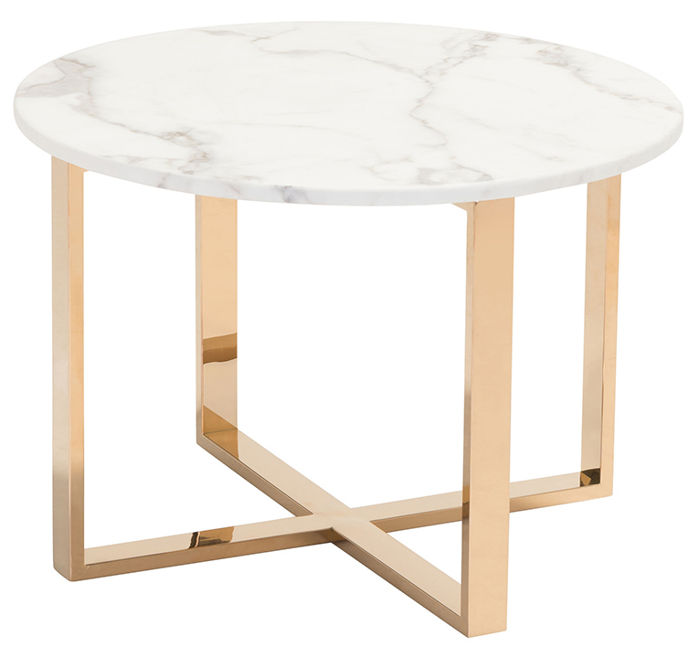 zuo modern globe end table stone gold
