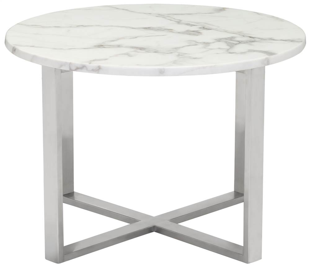 globe-end table stone stainless steel