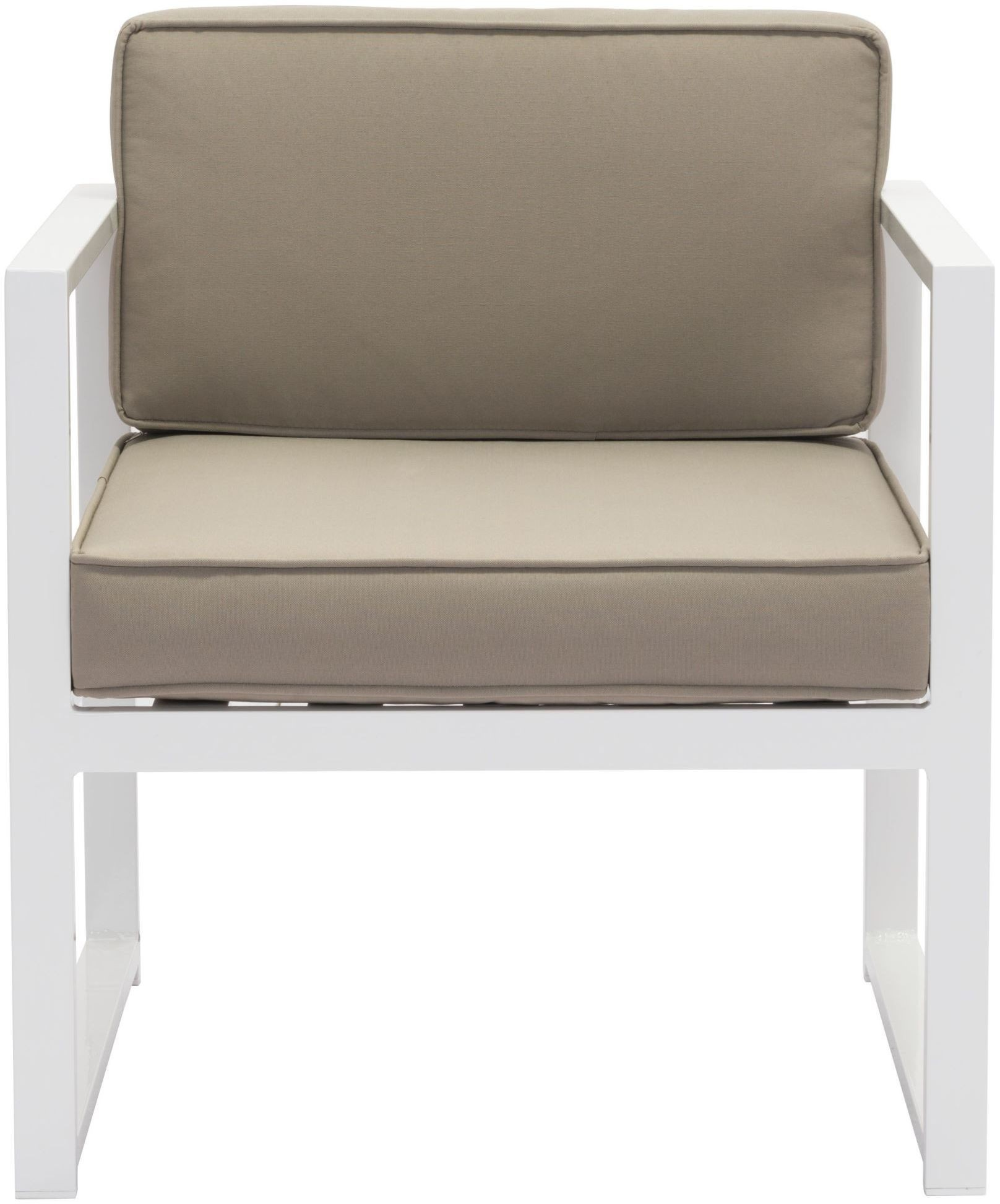 zuo modern golden beach arm chair white taupe