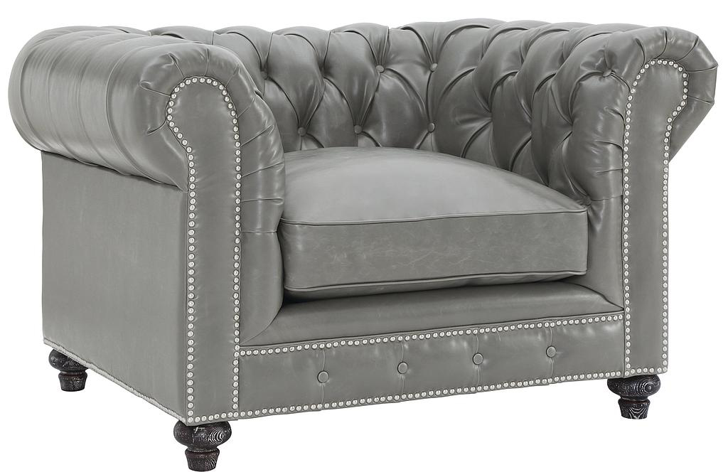 low priced grey chesterfield armchairs available at AdvancedInteriorDesigns.com