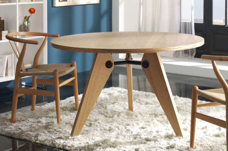 Gueridon Solid Wood Round Dining Table Small Amp Large
