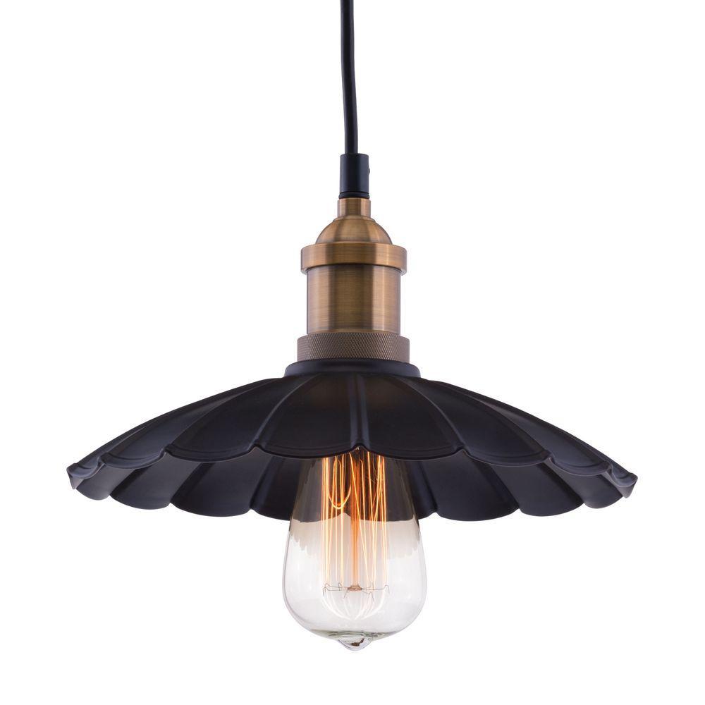 Hamilton Ceiling Lamp Antique Blk/Copper