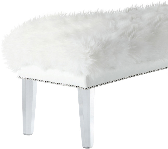 the helena sheepskin bench in white