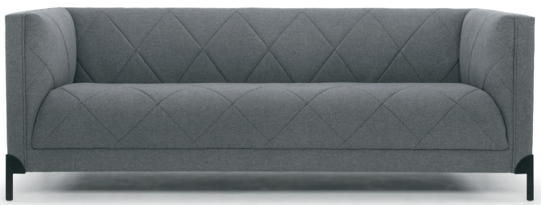 nuevo living isaak three seater shale grey