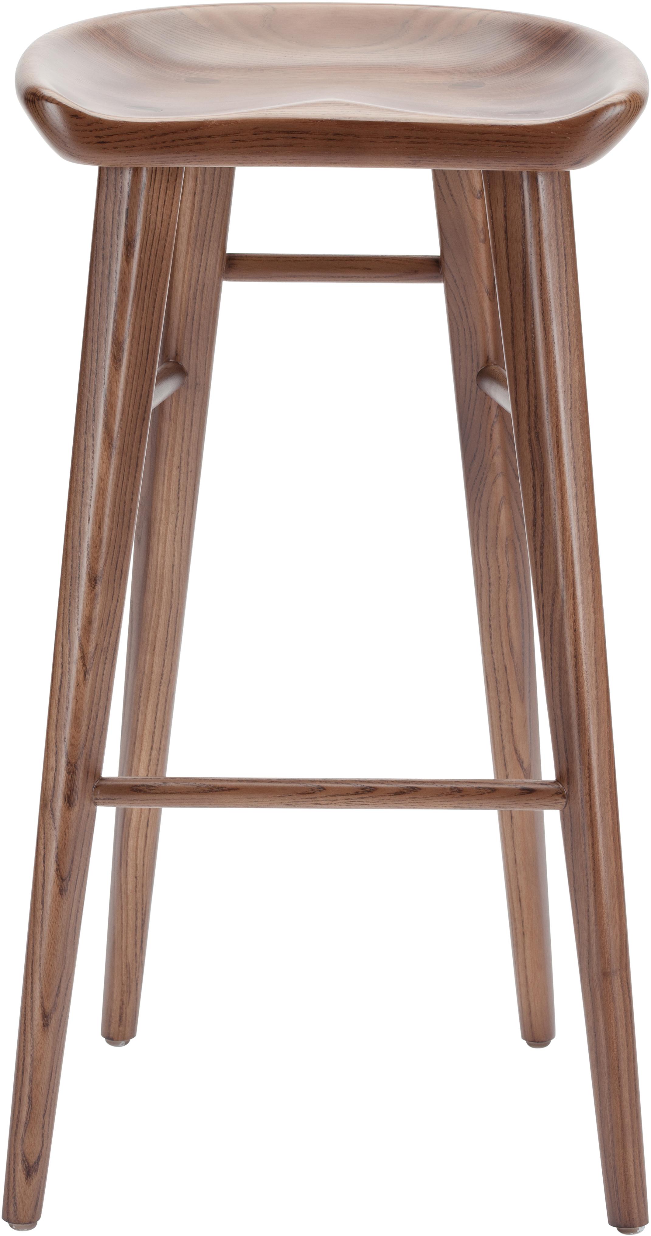 nuevo living kami stool ash stained walnut