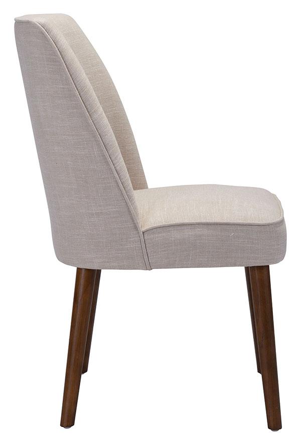 zuo kennedy dining chair beige
