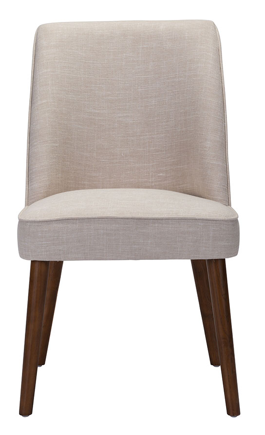 zuo modern kennedy dining chair beige