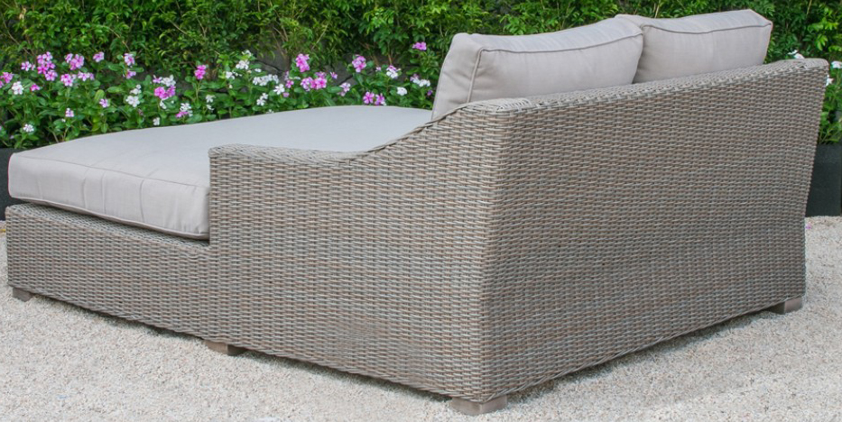 key west outdoor wicker sunbed back profile