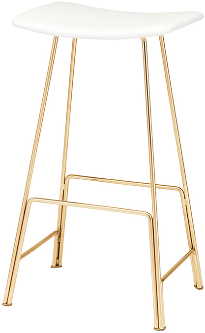 nuevo Kirsten counter stool in polished gold
