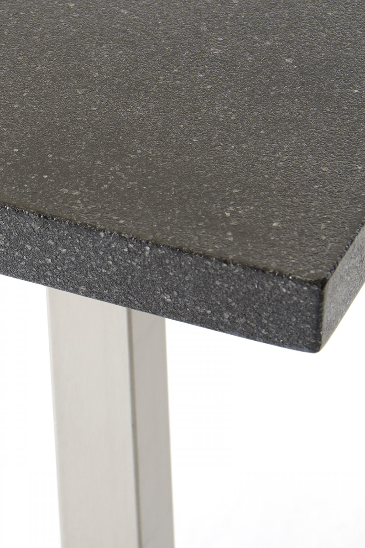 lanikai black granite dining table close up 2