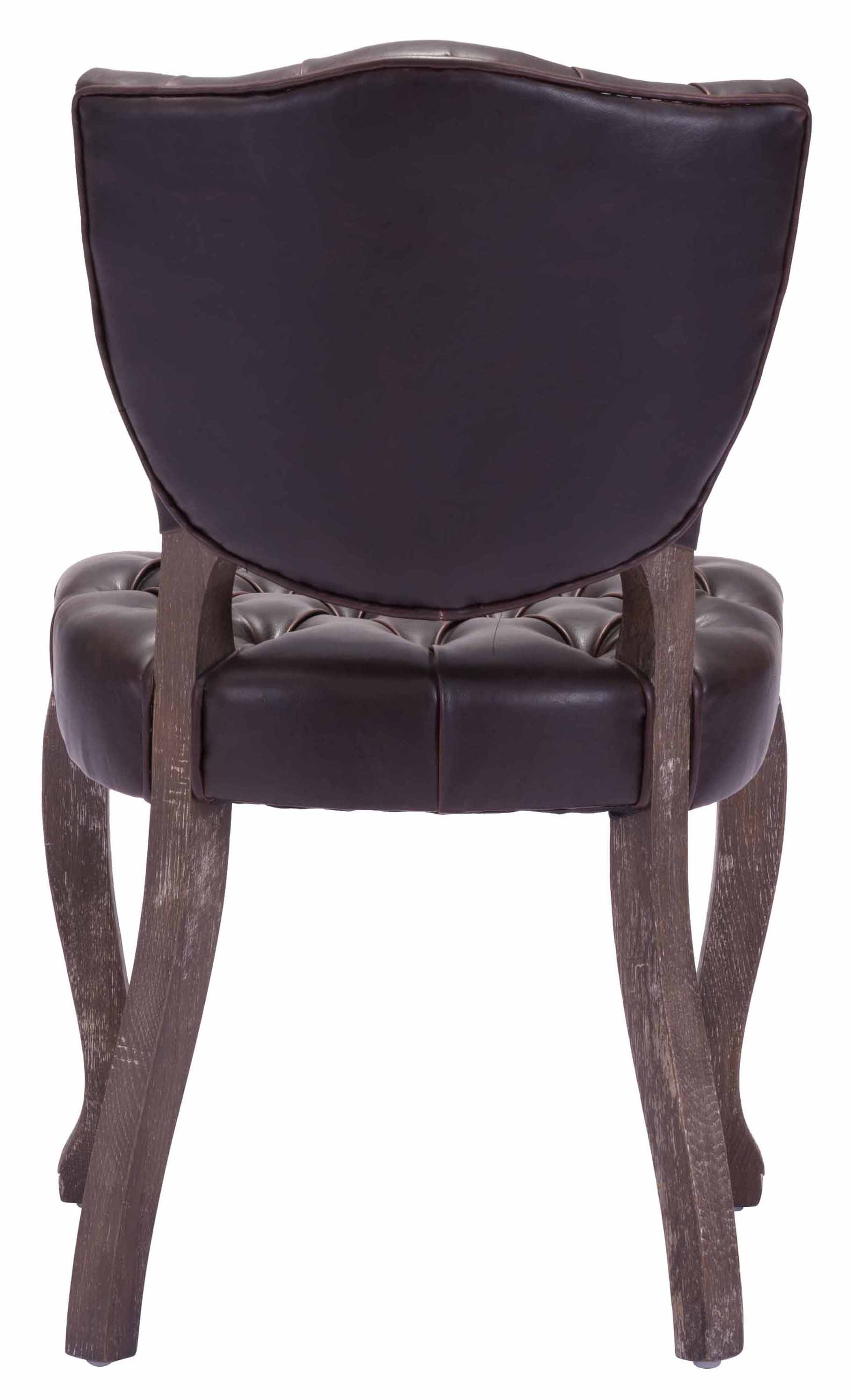 zuo leavenworth dining chair brown