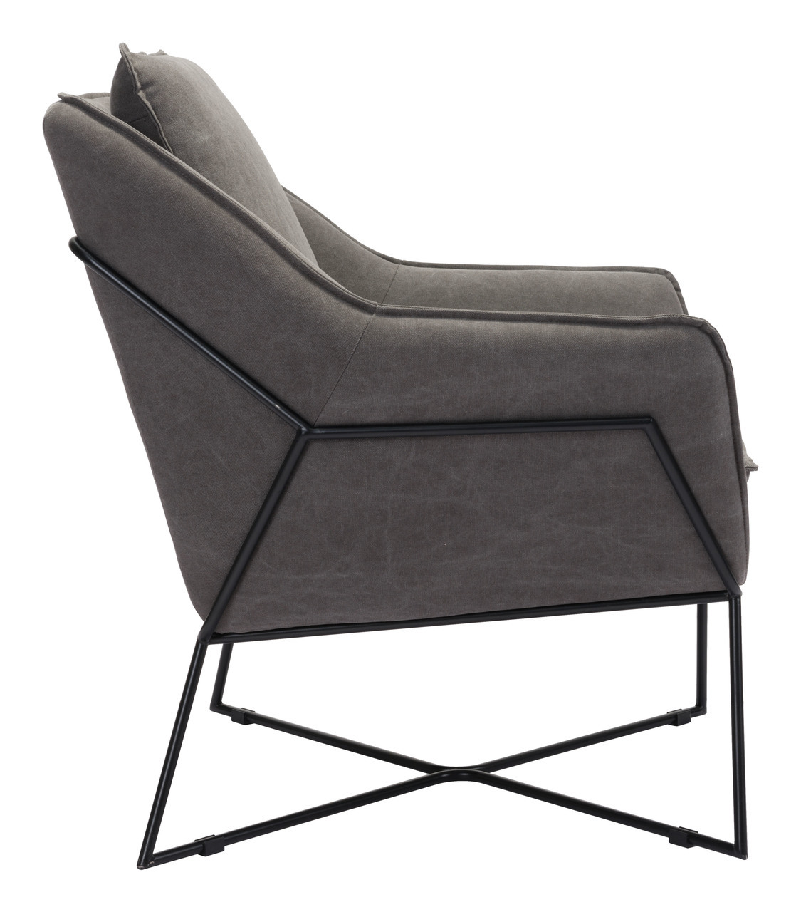zuo lincoln lounge chair gray