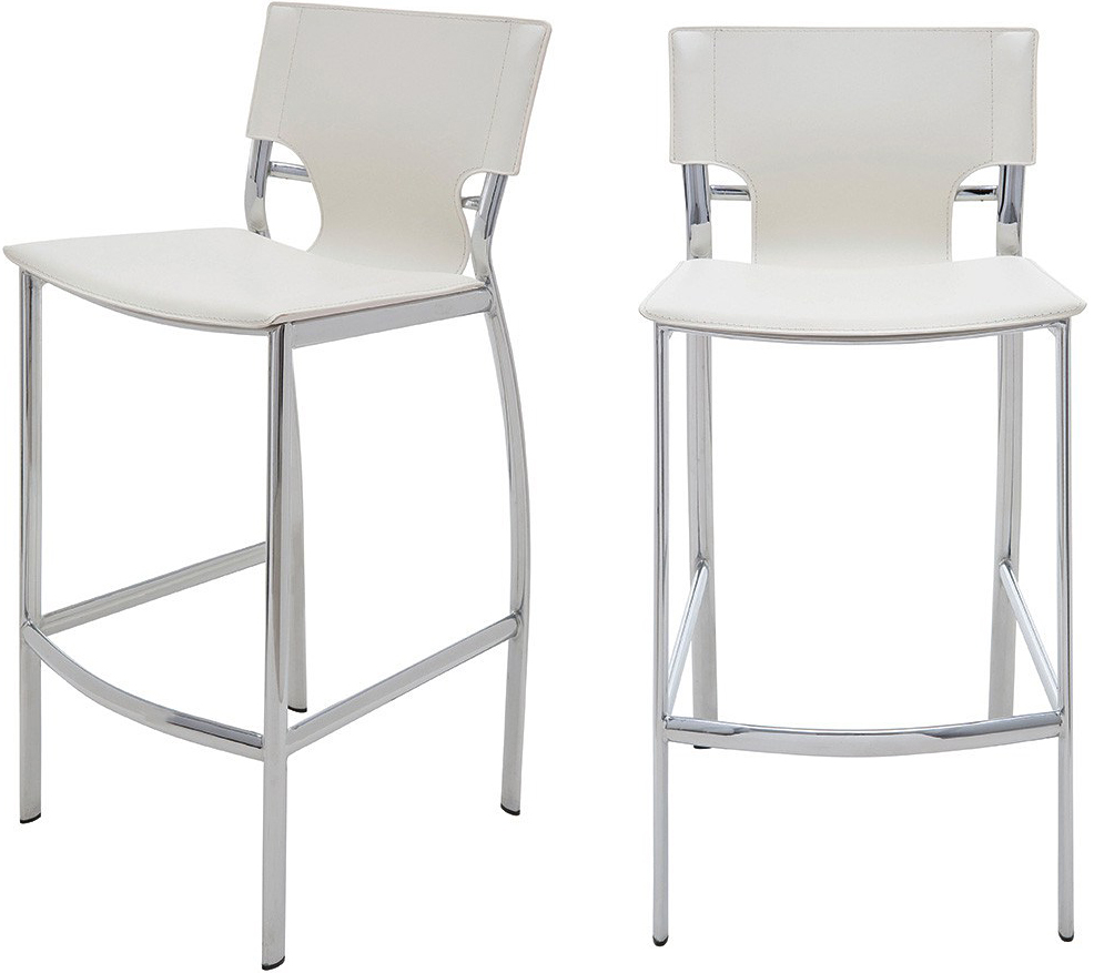 the lisbon bar stool in white