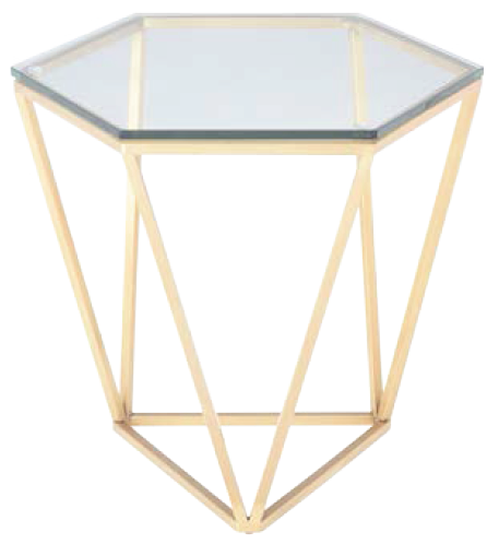 nuevo living louisa side table brushed gold