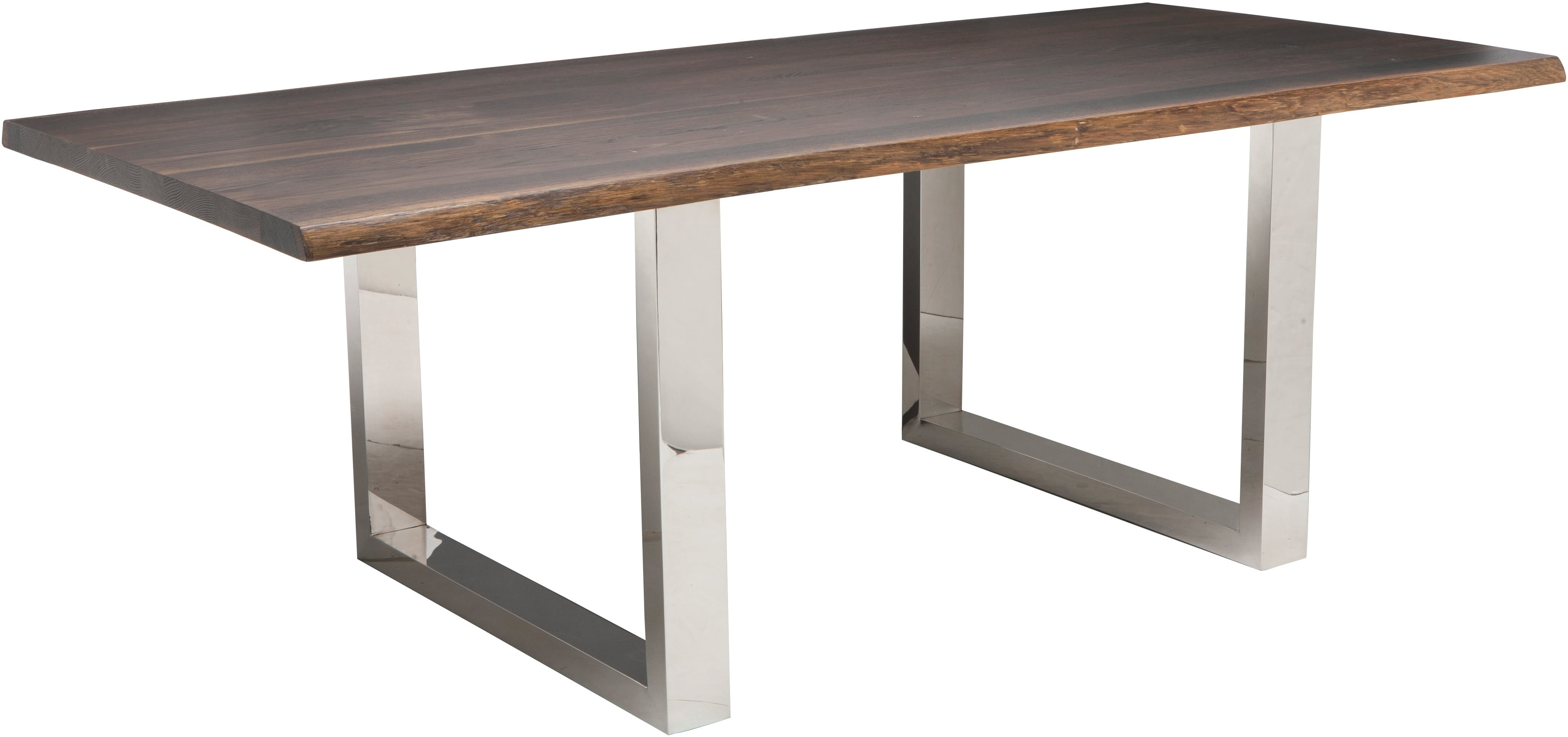 lyon dining table in seared oak finish by nuevo living