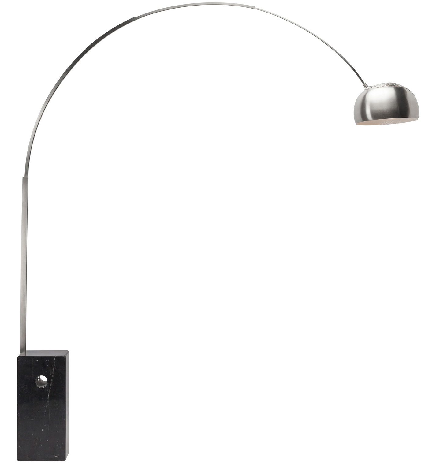 the marble arch floor lamp in black