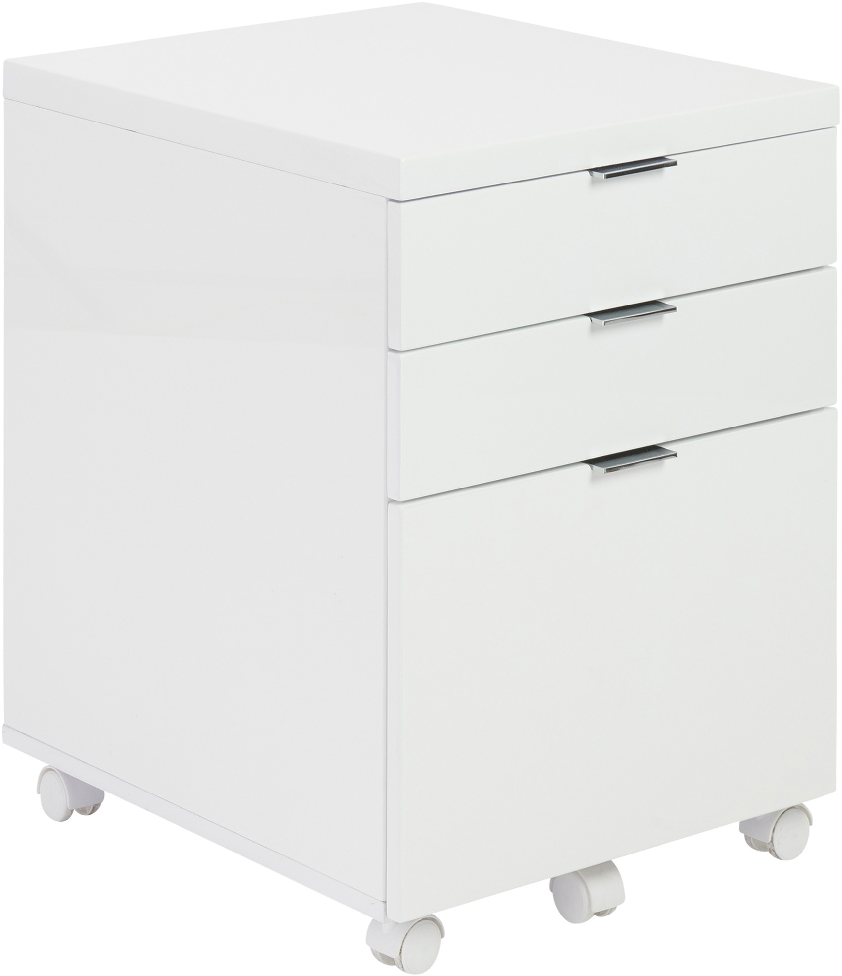 the metro filing cabinet in white