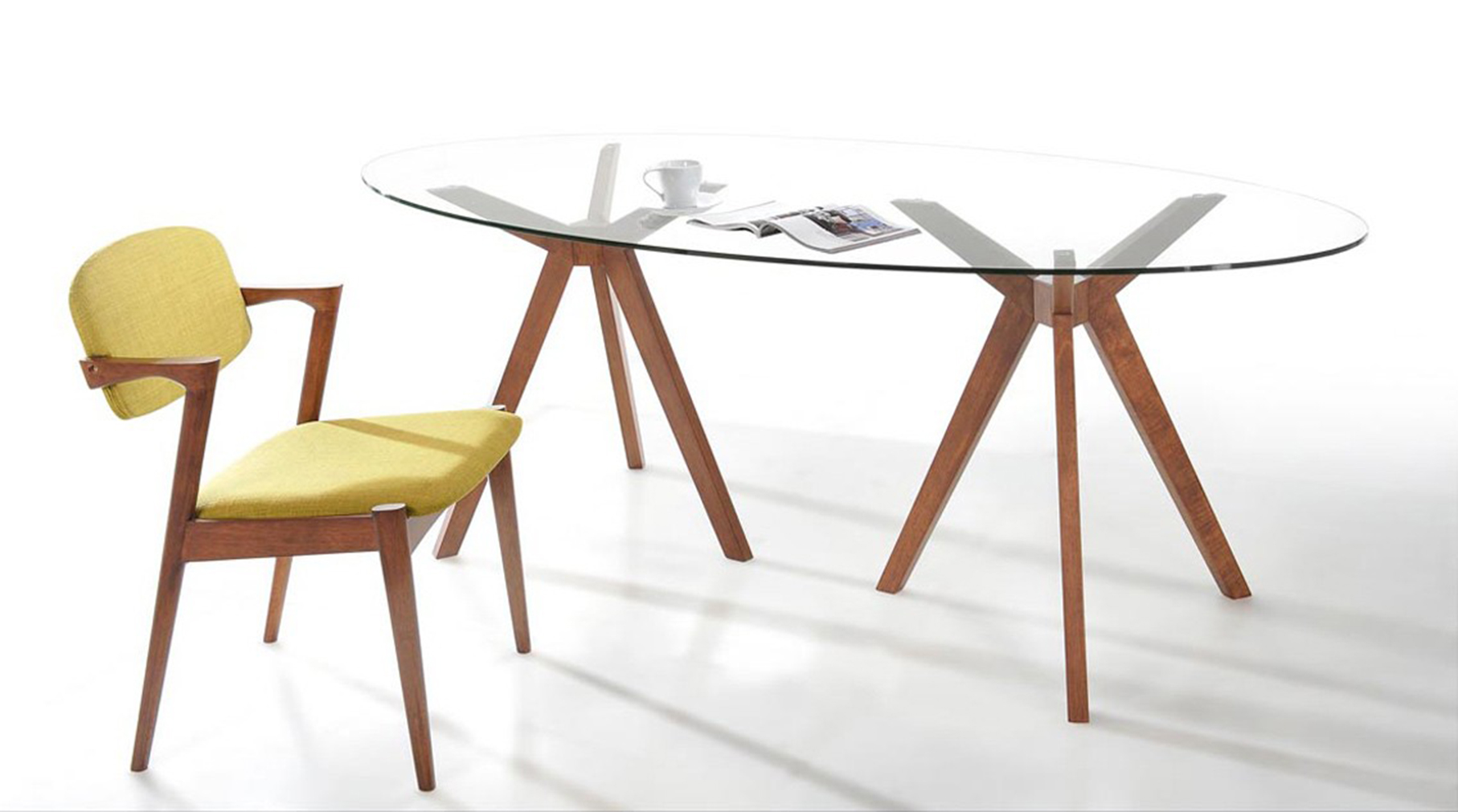 The Baxter Mid Century Over Dining Table is available At Advancedinteriordesigns.com