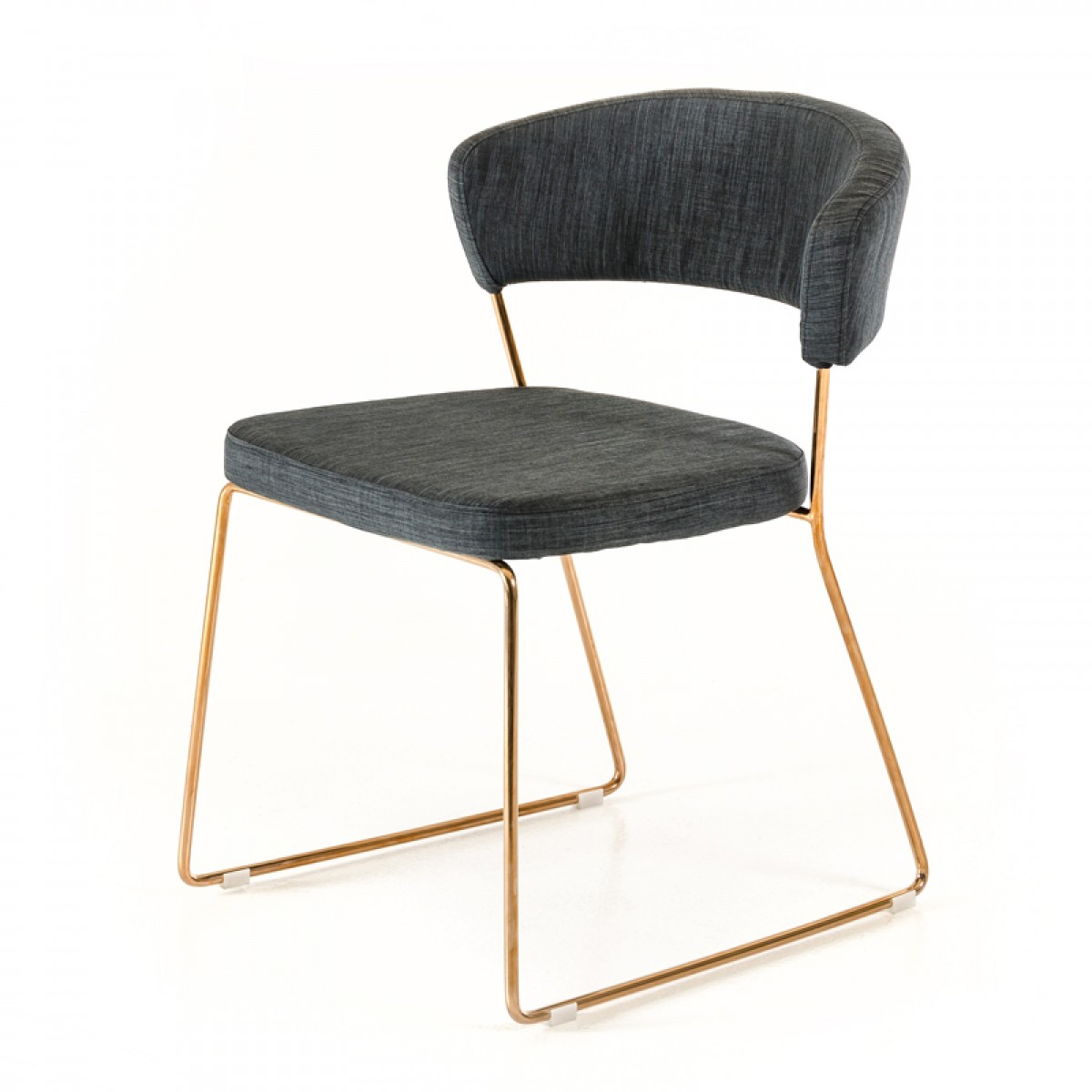 Check out the brand new Rudolpho Modern Grey Dining Chair With Rose Gold available at AdvancedInteriorDesigns.com