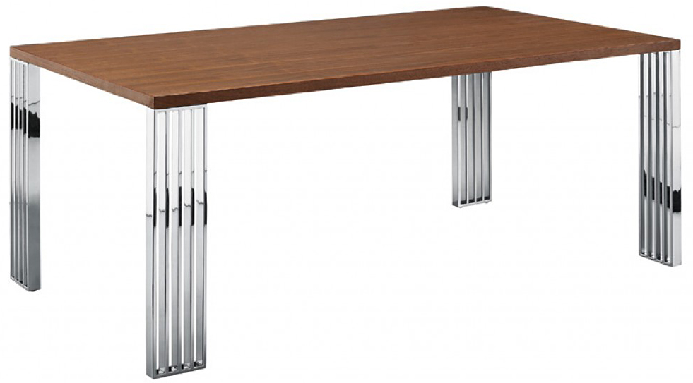 we've got a brand new modern walnut dining table available at AdvancedInteriorDesigns.com