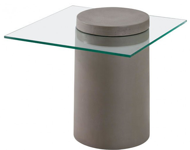 this side table works great in modern and industrial settings