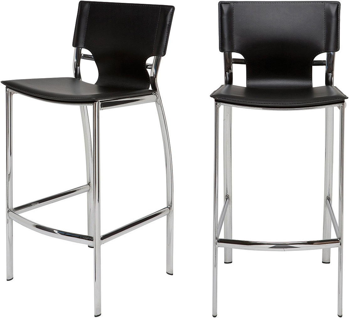 the nuevo lisbon bar chair in black