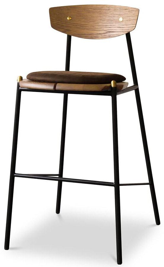 nuevo living kink bar stool jin green