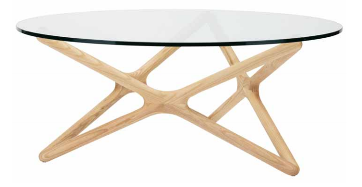 The Nuevo Living Star Coffee Table Is Available In Ash And American Walnut Finish
