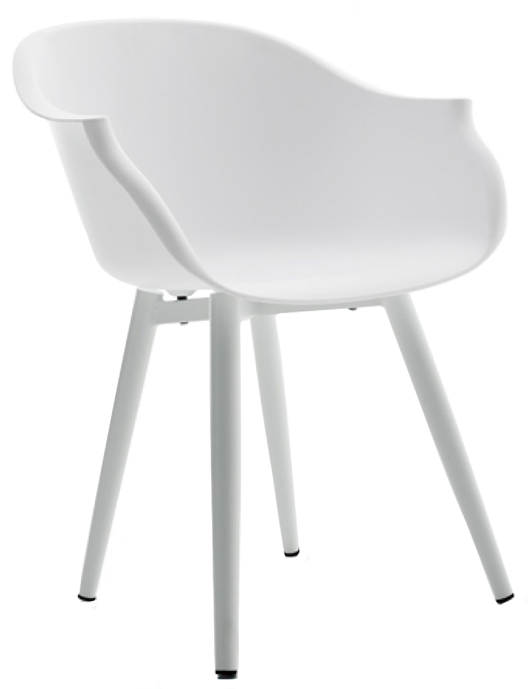 check out this brand new outdoor white dining chair