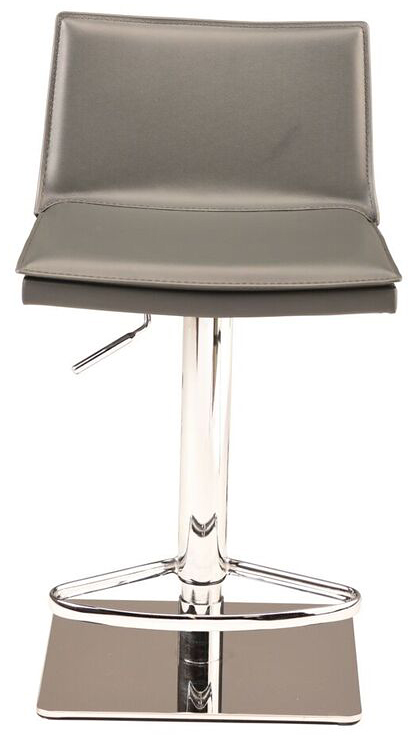 nuevo living palma adjustable stool grey leather
