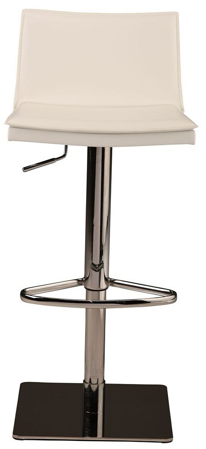 nuevo living palma adjustable stool white leather