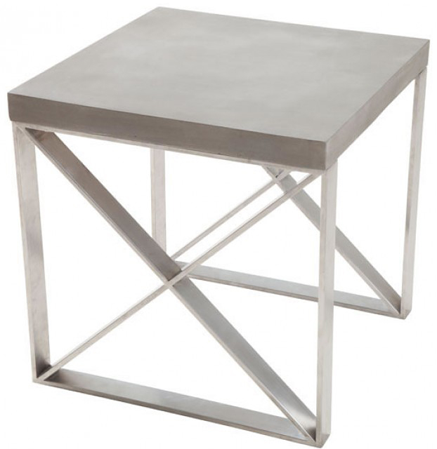 faux concrete top side table available at AdvancedInteriorDesigns.com