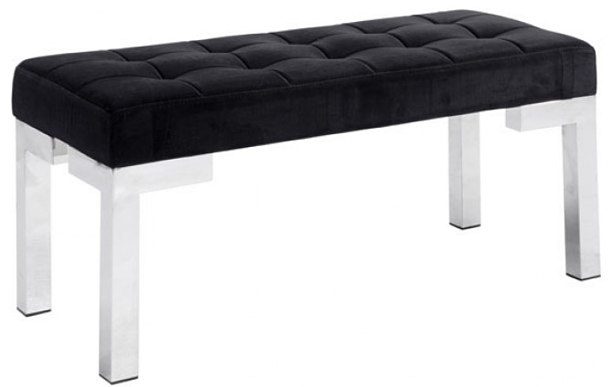 new zup black velvet bench